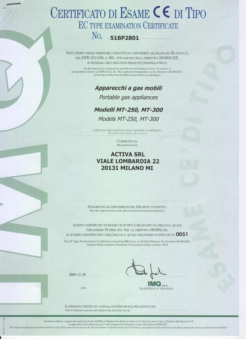 Сертификаты, заключение СЭС и декларация соответствия газовых плит.